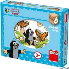 Kostky obrázkové 6ks - Veselý Krtek (Dino)