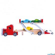 Auto - Tahač patrový se 4 auty (Bino)