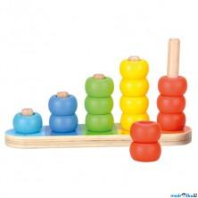 Skládačka - Navlékací kroužky, Barvy a počítání (Bino)