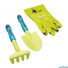 Zahradní nářadí - Krteček set lopatka a rukavice (Bino)