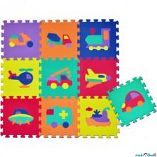 Puzzle pěnové - 30x30cm, 10ks, Dopravní prostředky