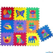 Puzzle pěnové - 30x30cm, 10ks, Zvířata