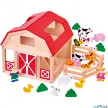 Farma - Dřevěná se zvířátky (Bino)