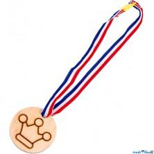 Drobné hračky - Medaile korunka dřevěná, 1ks (Legler)