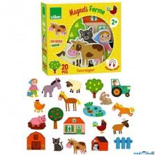 Magnetky - Farma dřevěné, 20ks (Vilac)