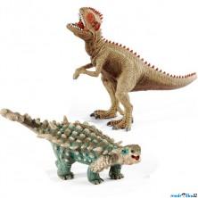 Schleich - Dinosaurus set, Giganotosaurus a Saichania