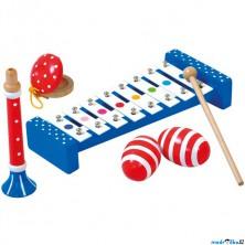 Hudba - Muzikální set s trupetou, 4 nástroje (Bino)
