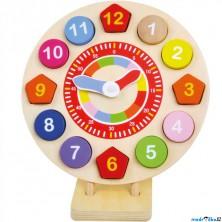 Puzzle hodiny - Dřevěné na stojanu (Bino)