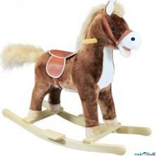 Houpadlo - Houpací kůň, Hnědý plyš, střední (Bino)