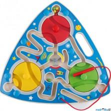 Motorický labyrint - Magnetická hra, Kosmos (Hape)