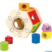 Vhazovačka - Vkládací šestihran s tvary (Hape)