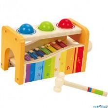 Zatloukačka - Xylofon s koulemi (Hape)