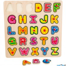 Puzzle výukové - Abeceda na desce s úchyty (Legler)