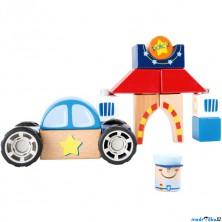 Stavebnice - Auto s kostkami, Policie (Legler)