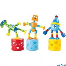 Mačkací figurka - Robot, 1ks (Legler)