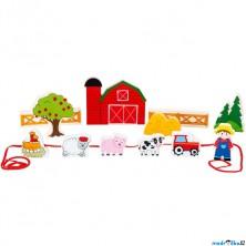 Navlékání tvarů - Hrací set, Farma (Legler)