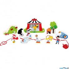 Navlékání tvarů - Hrací set, Cirkus (Legler)