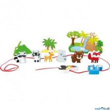 Navlékání tvarů - Hrací set, Safari (Legler)
