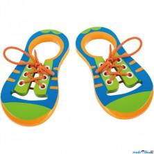 Šněrování - Šněrovací botičky ploché, 2ks (Legler)