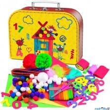 Kreativní sada - Kufřík malý šikula, 300 dílků (Woody)