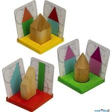 Puzzle stínové - 3D geomet. tvary a stíny (Voila)
