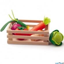 Dekorace prodejny - Přepravka se zeleninou (Woody)