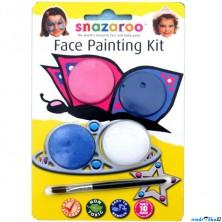 Snazaroo - Sada 3 barev na obličej, Motýl a princezna