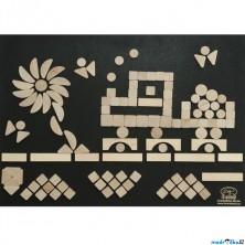 Hrací stěna - Suchý zip, 125 dílků, 70x50cm