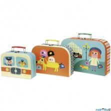 Kufřík dětský - Set 3 kufříků, Doprava (Vilac)