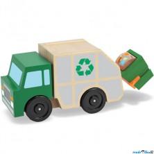 Auto - Popelářské auto dřevěné (M&D)