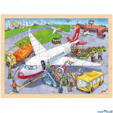 Puzzle na desce - Velké A3, Letiště, 96ks (Goki)