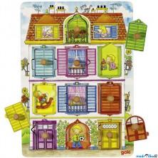 Puzzle odkrývací - Naše vila, 10ks (Goki)