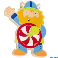 Věšák dřevěný - Jednověšák, Viking (Goki)