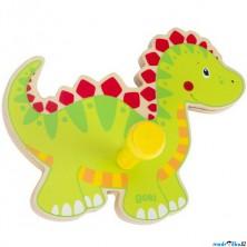 Věšák dřevěný - Jednověšák, Dinosaurus (Goki)