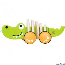 Tahací hračka - Krokodýl s kmitajícím ocasem (Hape)