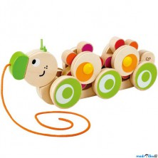 Tahací hračka - Housenka s rotujícími květy (Hape)