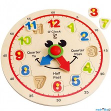 Puzzle hodiny - Angličtina, výuka hodin (Hape)