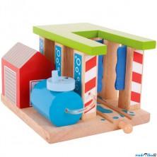 Vláčkodráha budovy - Vlaková myčka (Bigjigs)