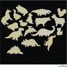Hrací stěna - Dílky zvířátka a dinosauři, 17 dílků