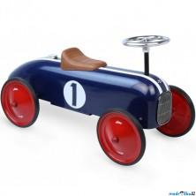 Odrážedlo kovové - Historické závodní auto, modré (Vilac)