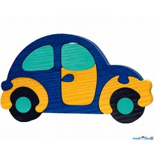 Puzzle z masivu - Velké, Auto modré (Fauna)