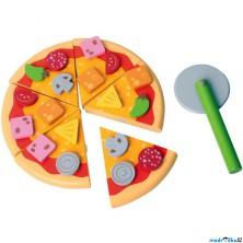 Krájení - Pizza na prkénku (Bigjigs)