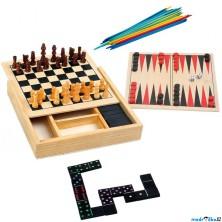 Společenské hry - Soubor klasických her 4v1 (Legler)