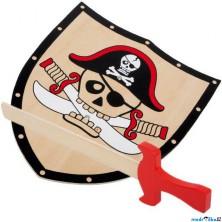 Dětská zbraň - Pirátský štít a meč Barbaros (Legler)