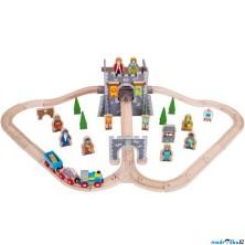 Vláčkodráha Bigjigs - Středověk s hradem, 46 dílů