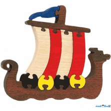 Puzzle z masivu - Velké, Vikingská loď (Fauna)