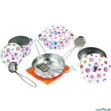 Kuchyň - Dětské nádobí set, Smaltované, 11ks (Bino)