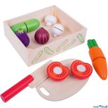 Krájení - Zelenina v krabičce (Bigjigs)