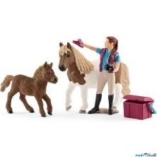 Schleich - Jezdecký klub, Ošetřovatelka se Shetlanskými poníky
