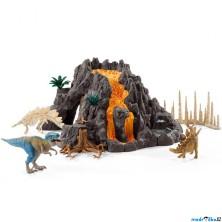 Schleich - Dinosaurus set, Velká sopka s dinosaury